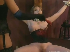 Busty Submissive Grown-up Gets Scheduled Up and Whipped By Super Hot Domina